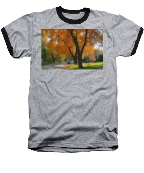 Memory Of An Autumn Day Baseball T-Shirt by Lyle Hatch