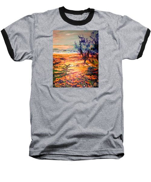Baseball T-Shirt featuring the painting Memory Pandanus by Winsome Gunning