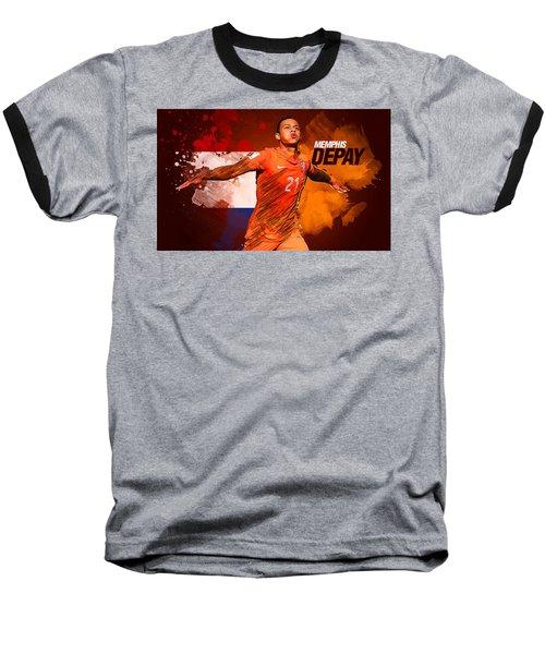 Memphis Depay Baseball T-Shirt by Semih Yurdabak