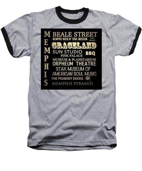 Memphis Tennessee Famous Landmarks Baseball T-Shirt