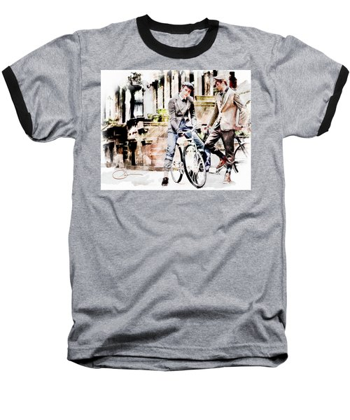 Men On Bikes Baseball T-Shirt