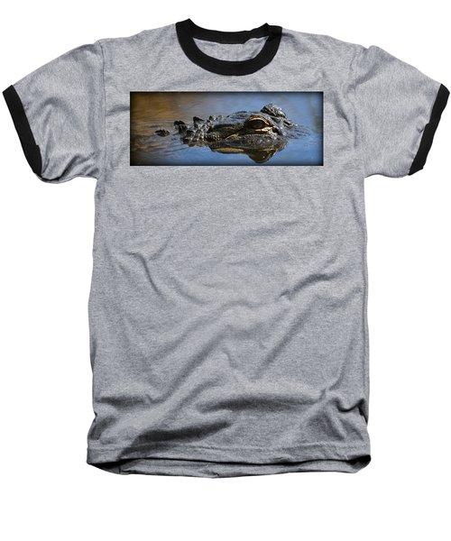 Menacing Alligator Baseball T-Shirt