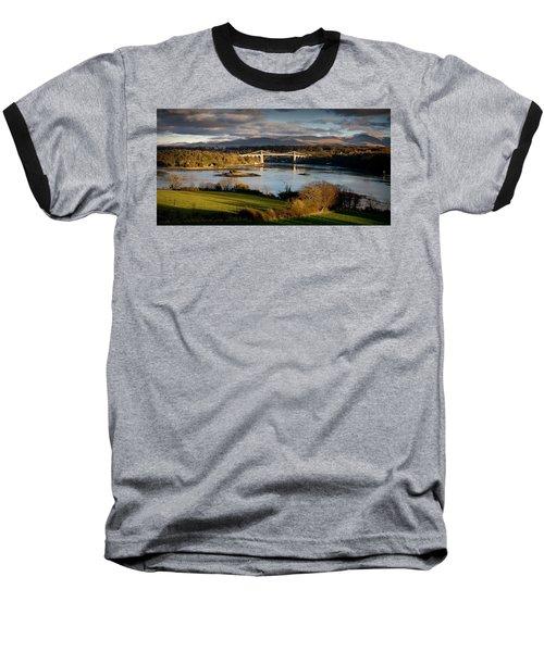Menai Strait From Anglesey Baseball T-Shirt