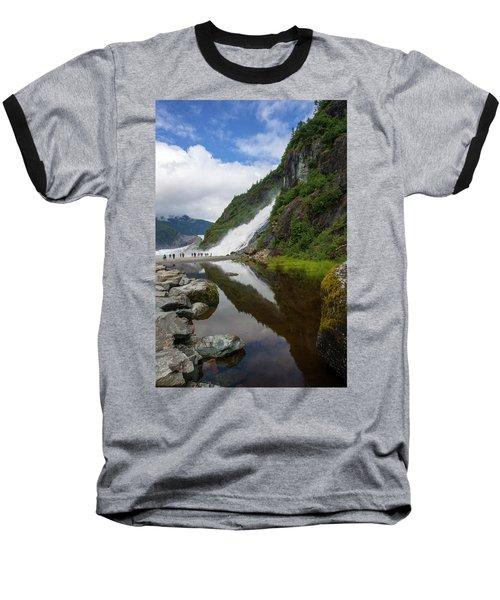 Mendenhall Waterfall Baseball T-Shirt