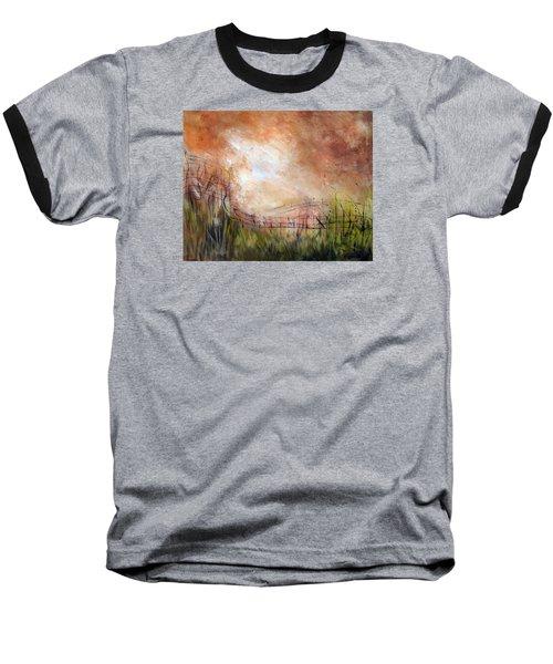 Mending Fences Baseball T-Shirt by Roberta Rotunda