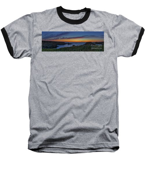 Mendocino Headlands Sunset Baseball T-Shirt