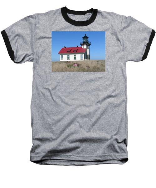 Mendocino Lighthouse Baseball T-Shirt