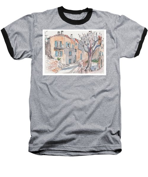 Baseball T-Shirt featuring the painting Menerbes by Tilly Strauss