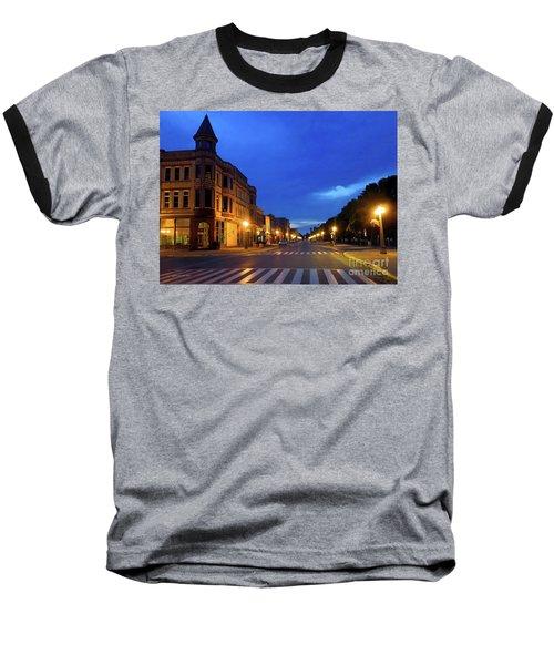 Menominee Michigan Night Lights Baseball T-Shirt