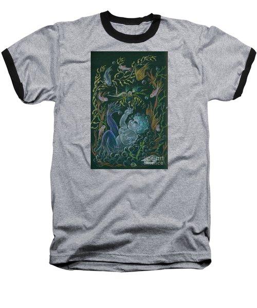 Merbaby Blue Baseball T-Shirt by Dawn Fairies