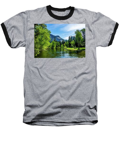 Merced River In Yosemite Valley Baseball T-Shirt