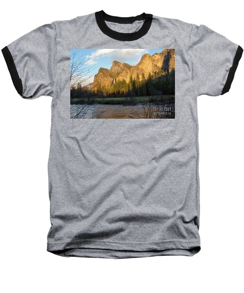 Merced River Yosemite Color Baseball T-Shirt