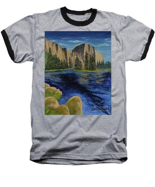 Merced River, Yosemite Park Baseball T-Shirt
