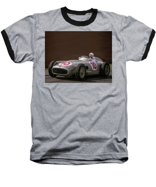 Mercedes-benz W196 Number 10 Baseball T-Shirt by Wally Hampton