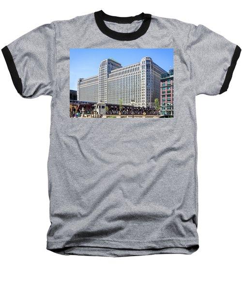 Merchandise Mart Overlooking The L Baseball T-Shirt