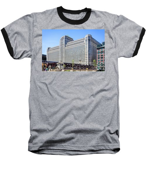 Merchandise Mart Overlooking The L Baseball T-Shirt