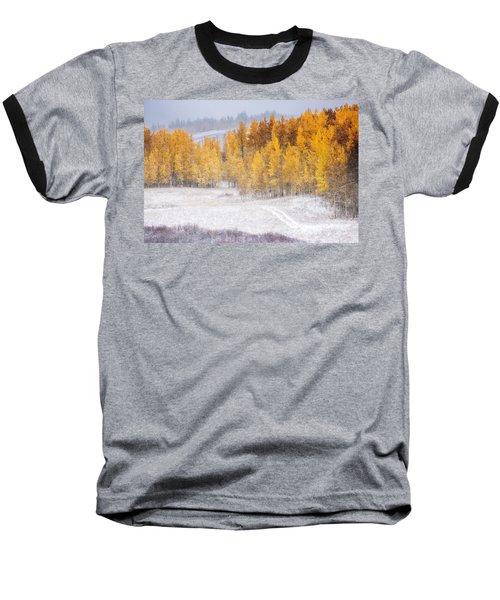 Baseball T-Shirt featuring the photograph Merging Seasons by Kristal Kraft