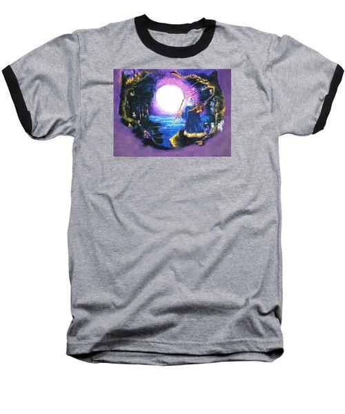 Merlin's Moon Baseball T-Shirt by Seth Weaver