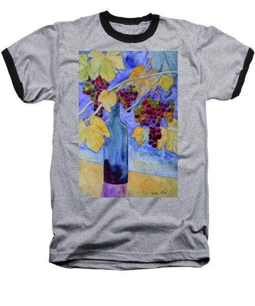 Merlot Baseball T-Shirt by Nancy Jolley
