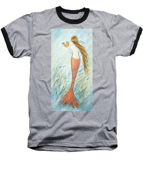 Mermaid And Her Catfish, Goldie Baseball T-Shirt