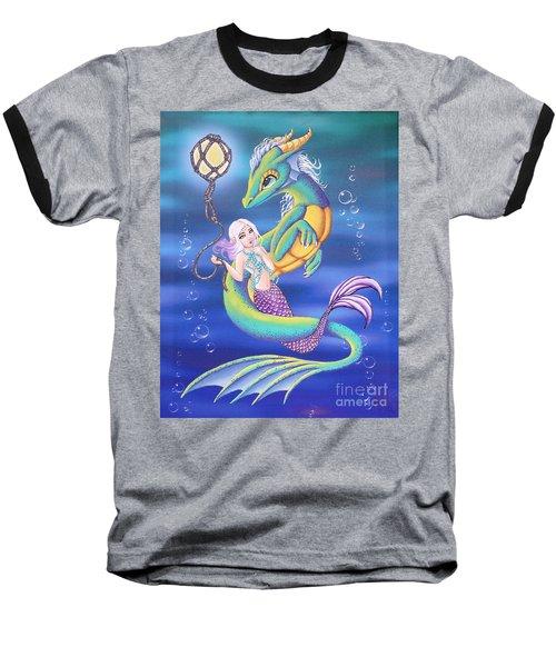 Mermaid And Sea Dragon Baseball T-Shirt