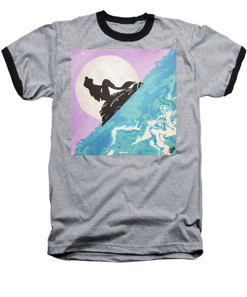 Mermaid Baseball T-Shirt by Cyrionna The Cyerial Artist