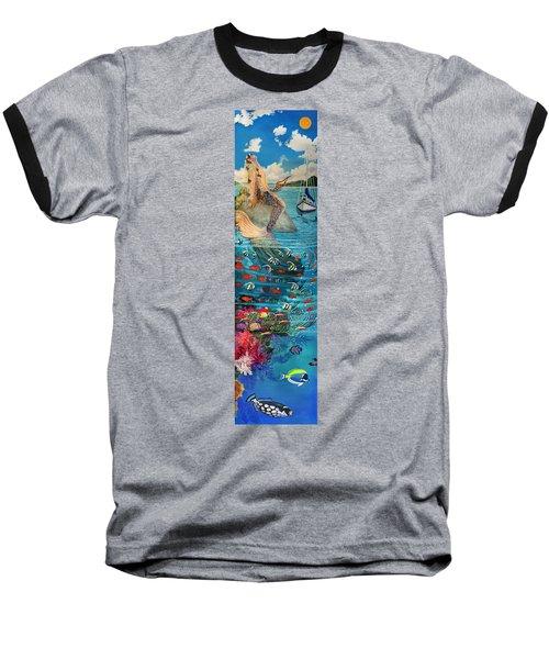 Mermaid In Paradise Baseball T-Shirt