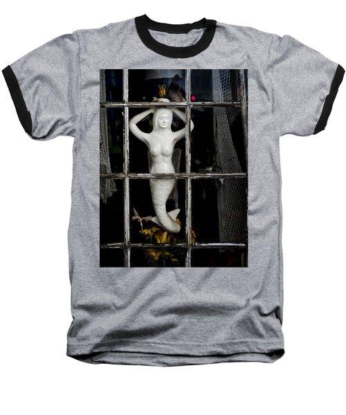 Mermaid In The Window Baseball T-Shirt