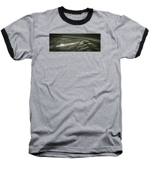 Mermaid Swimming Baseball T-Shirt