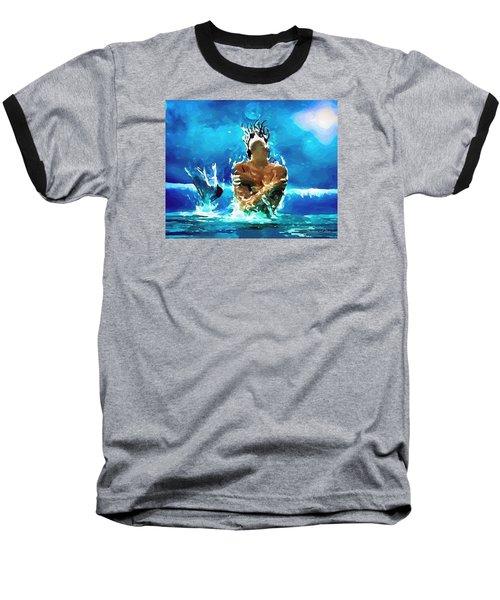 Mermaid Under The Moonlight Baseball T-Shirt