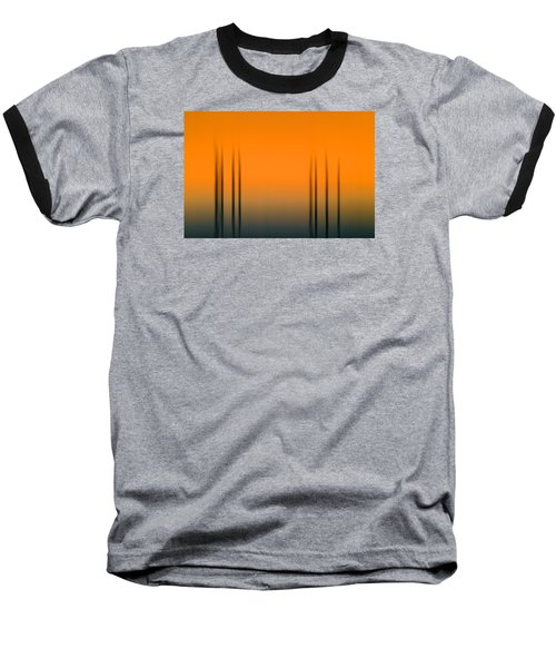 Merritt Island Sunset Digital Abstracts Motion Blur  Baseball T-Shirt
