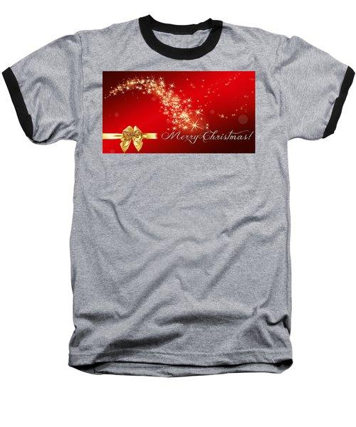 Merry Christmas Christmas Card Baseball T-Shirt by Bellesouth Studio