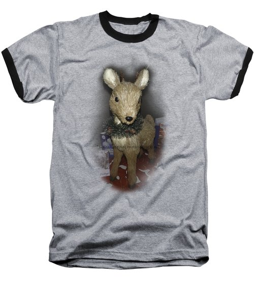 Merry Christmas Deer Baseball T-Shirt