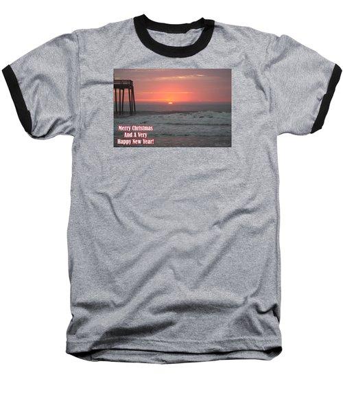 Merry Christmas Sunrise  Baseball T-Shirt by Robert Banach