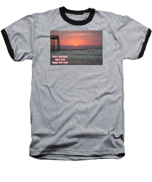 Merry Christmas Sunrise  Baseball T-Shirt