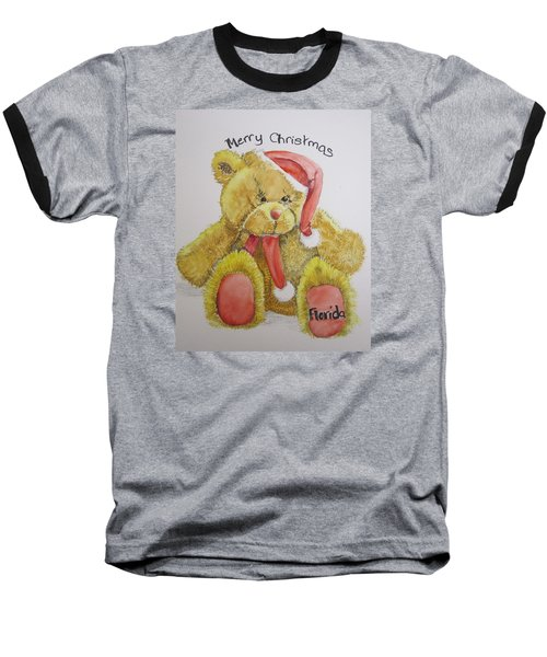 Merry Christmas Teddy  Baseball T-Shirt