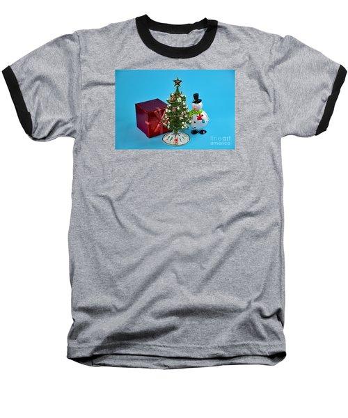 Merry Christmas To You Baseball T-Shirt by Ray Shrewsberry