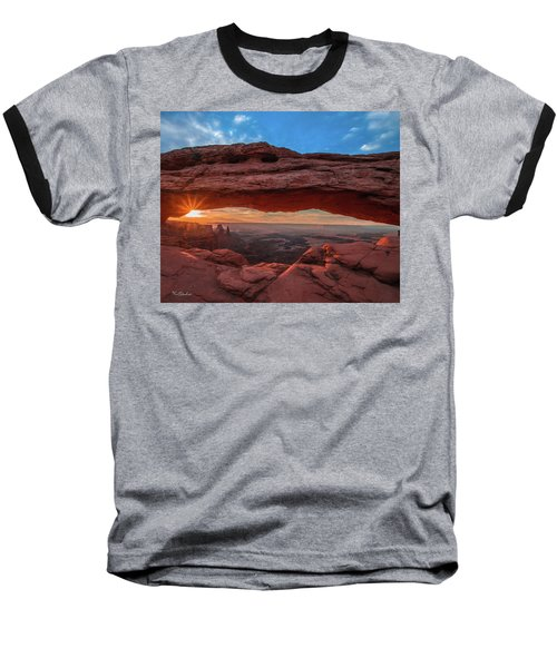 Mesa Arch At Sunrise 3, Canyonlands National Park, Utah Baseball T-Shirt