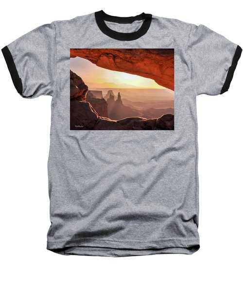 Mesa Arch At Sunrise, Washer Woman Formation , Canyonlands National Park, Utah Baseball T-Shirt