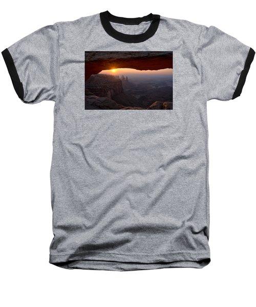 Mesa Arch Sunrise Baseball T-Shirt by Darlene Bushue
