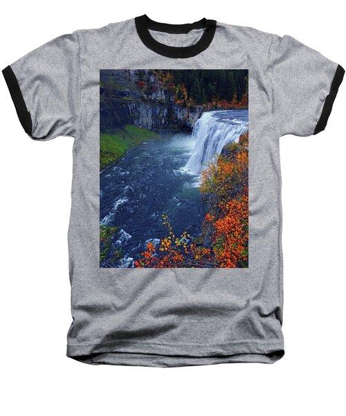 Mesa Falls In The Fall Baseball T-Shirt