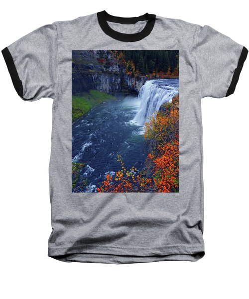 Mesa Falls In The Fall Baseball T-Shirt