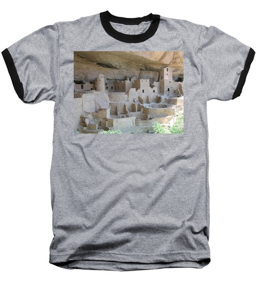 Baseball T-Shirt featuring the digital art Mesa Verde Community by Gary Baird