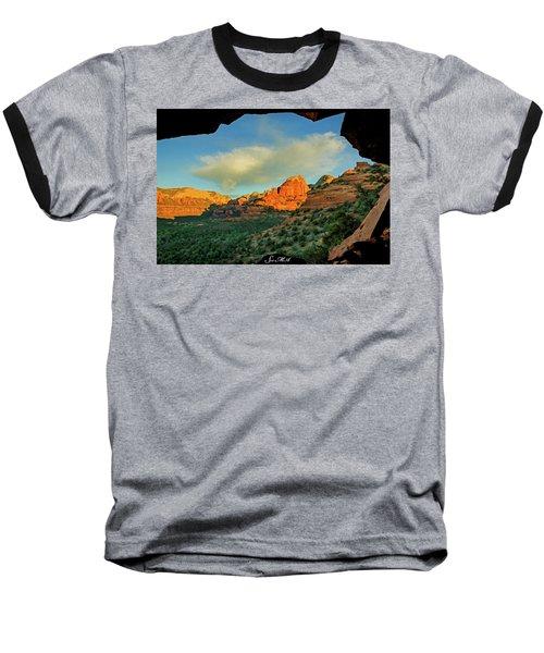 Mescal Mountain 04-012 Baseball T-Shirt by Scott McAllister