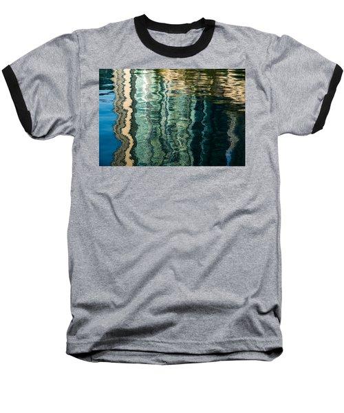 Mesmerizing Abstract Reflections Two Baseball T-Shirt