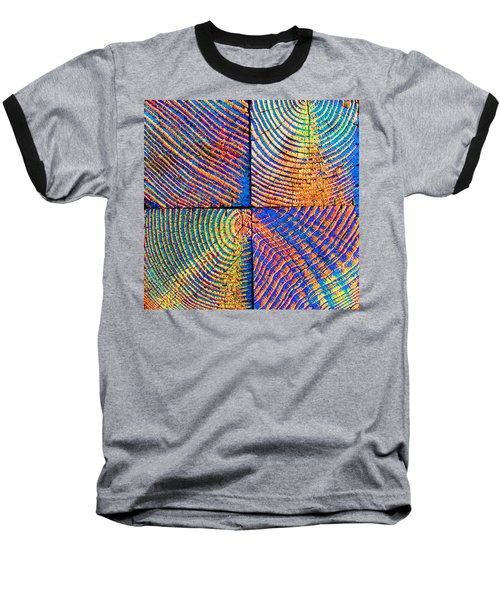 Baseball T-Shirt featuring the photograph  Rainbow Powerwood by John King