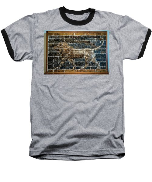 Mesopotamian Lion Baseball T-Shirt