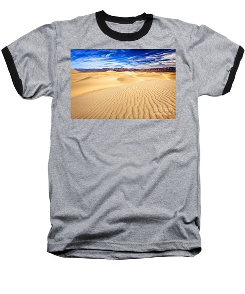 Mesquite Flat Sand Dunes In Death Valley Baseball T-Shirt