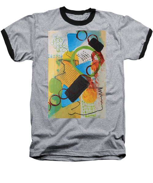 Messy Circles Of Life Baseball T-Shirt