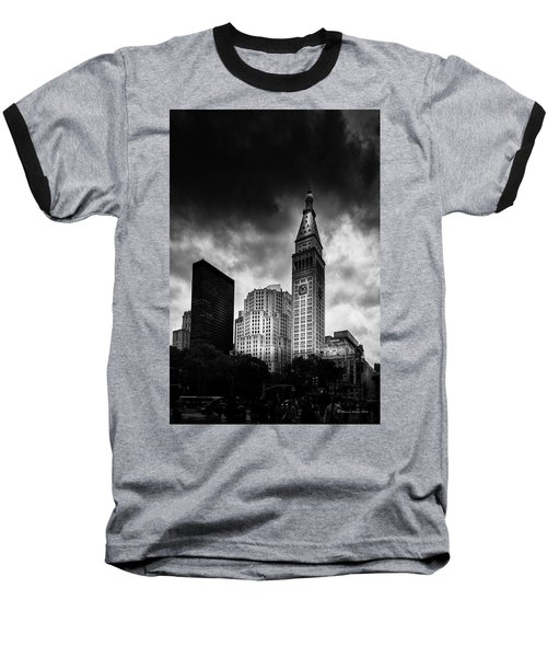 Baseball T-Shirt featuring the photograph Met-life Tower by Marvin Spates